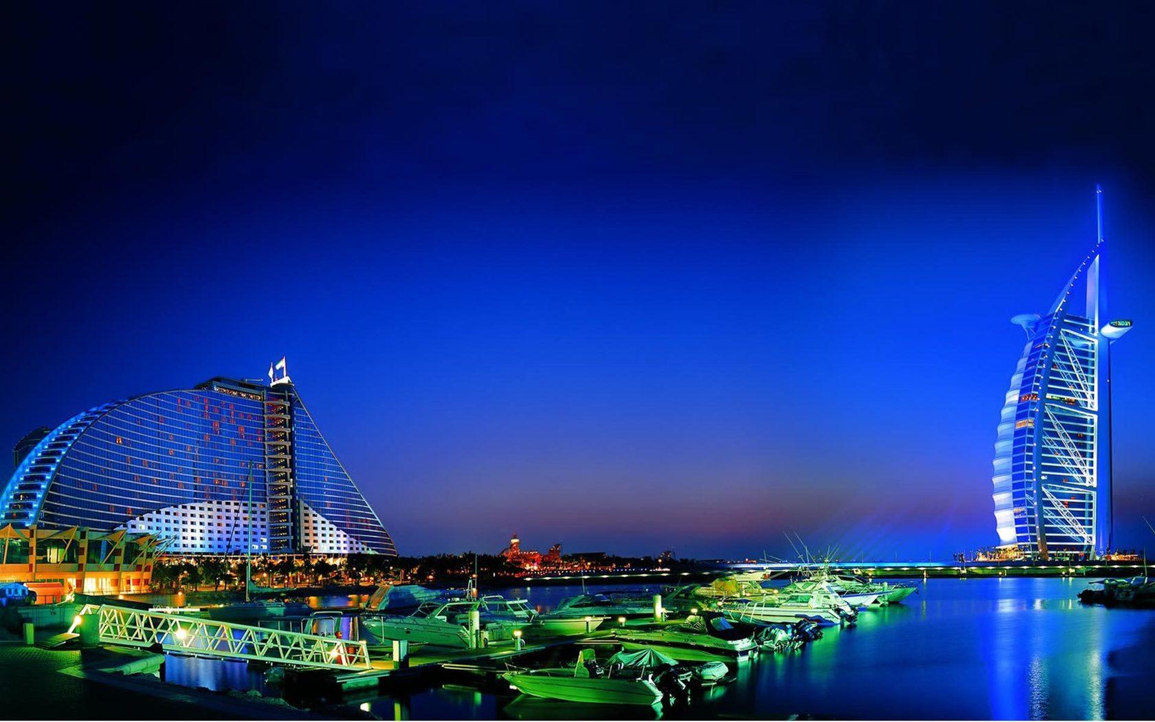 Dubai Night View Wallpaper Background Hd Wallpaper