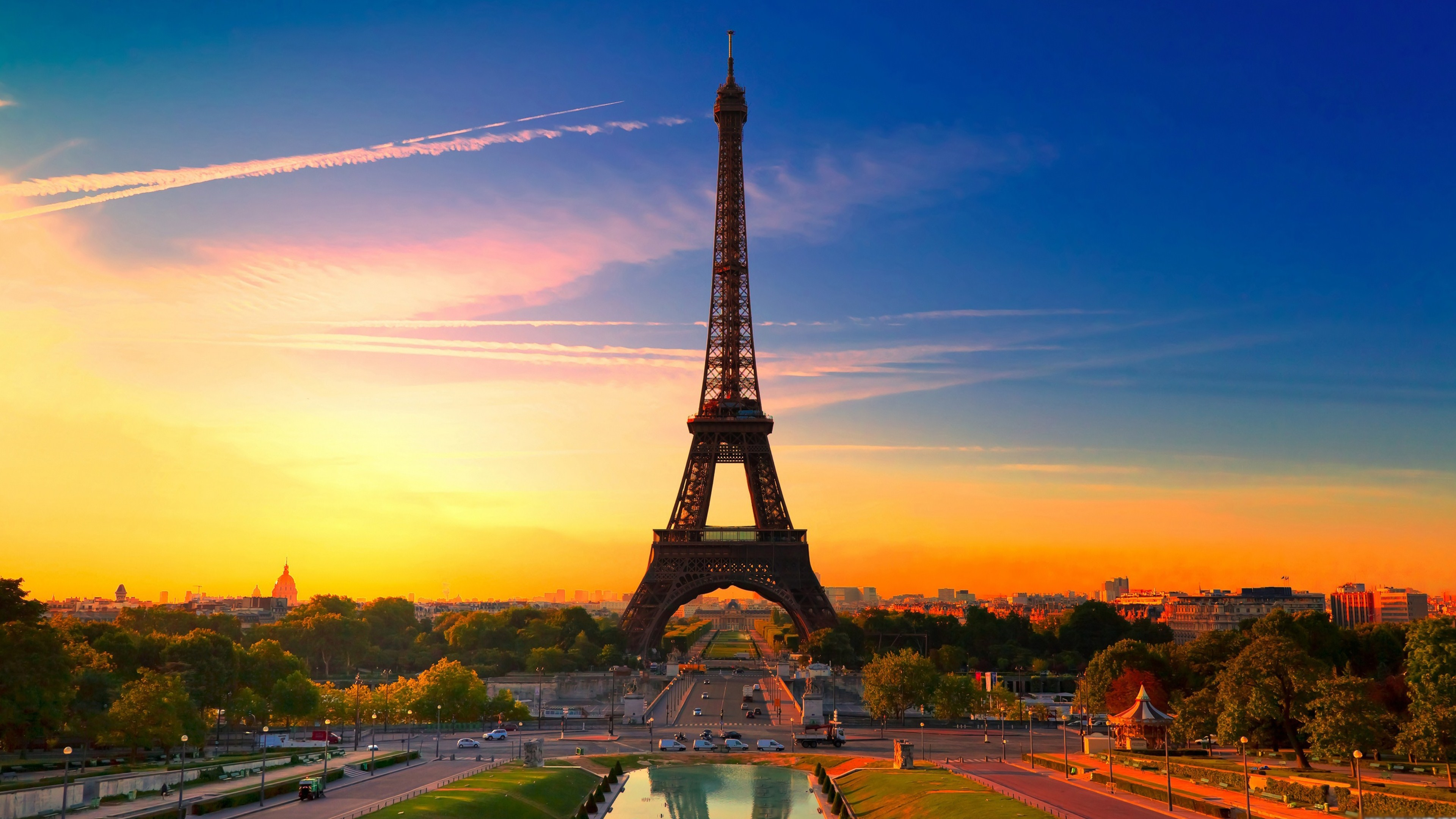 eiffel tower wallpaper 4k background