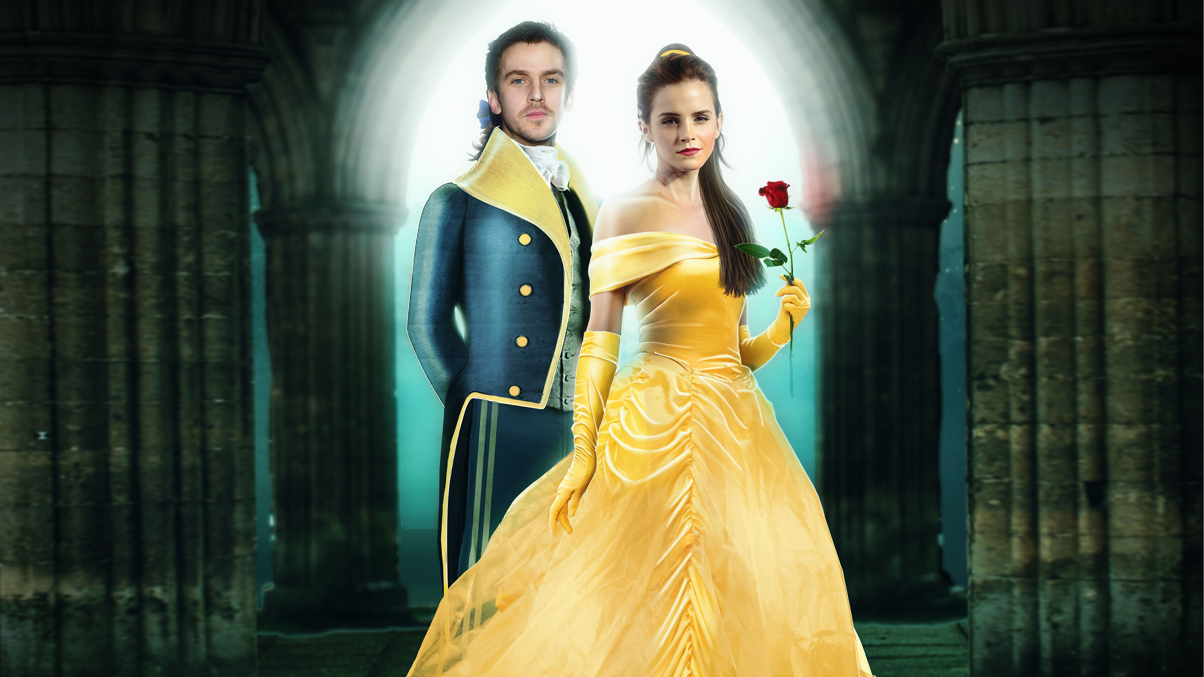 emma watson beauty and the beast 4k wallpaper background