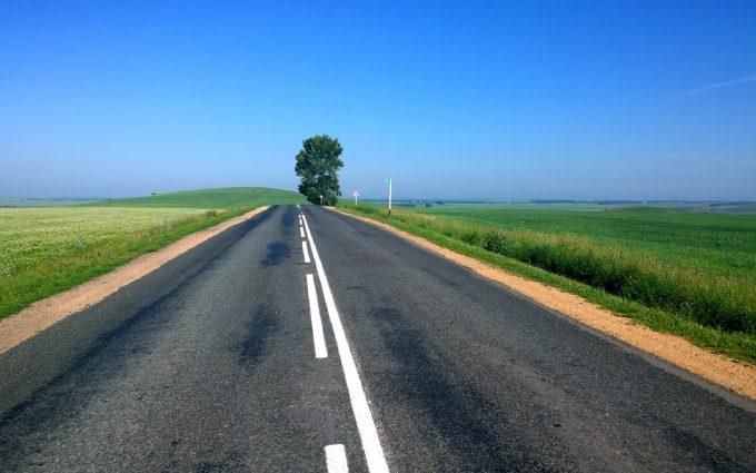 empty road wallpaper