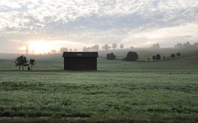 farm sunset wallpaper background