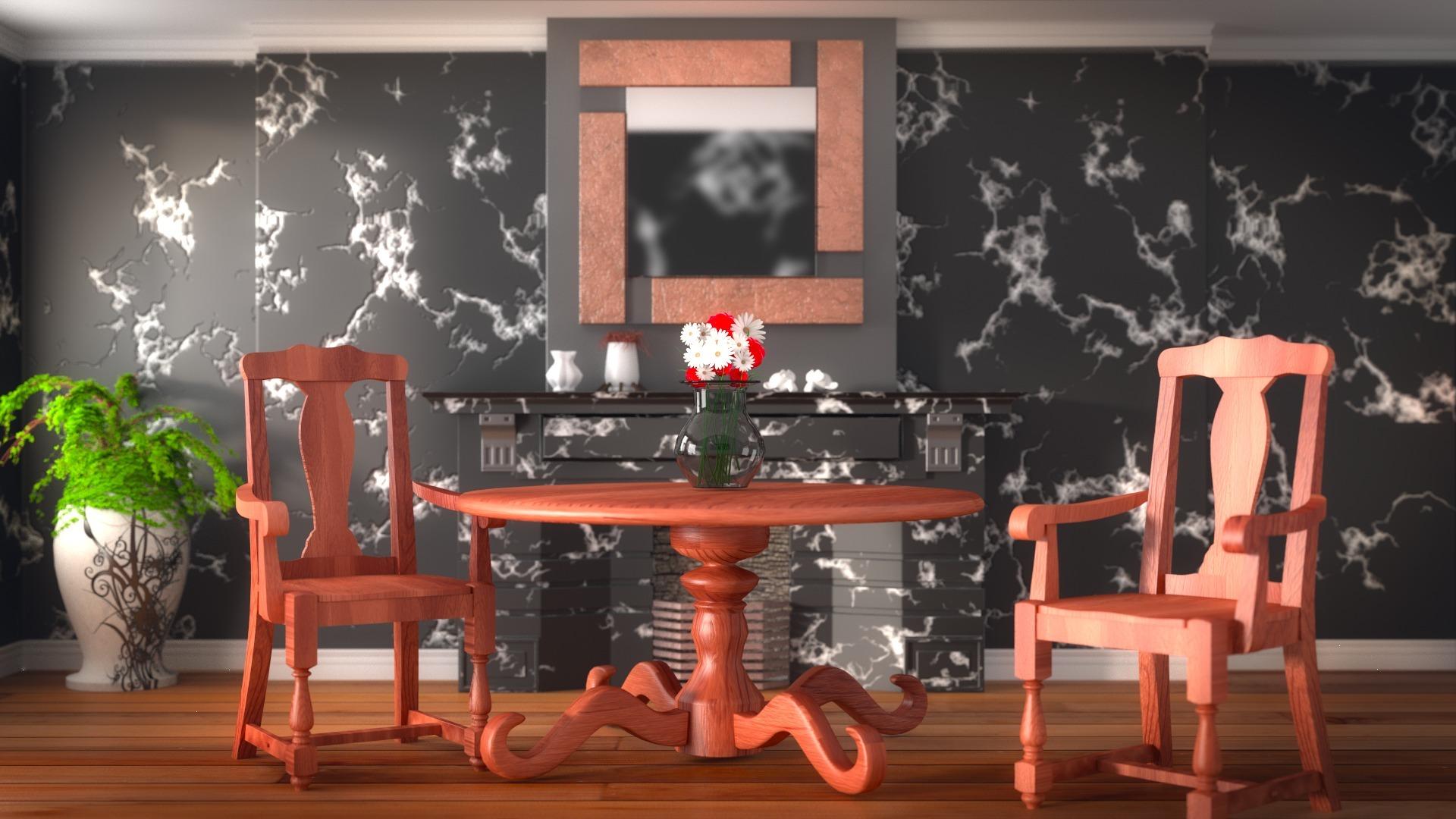flower vase on table wallpaper background