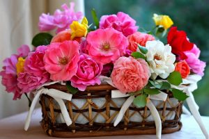 flowers basket wallpaper background