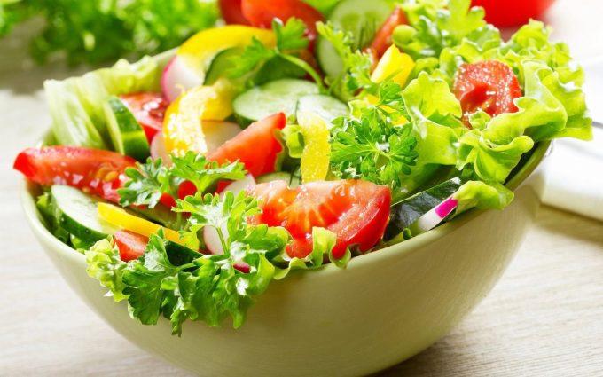 fresh salad wallpaper background