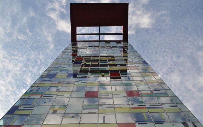 glass building wallpaper 4k background