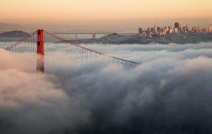Golden Gate Bridge in Clouds Wallpaper