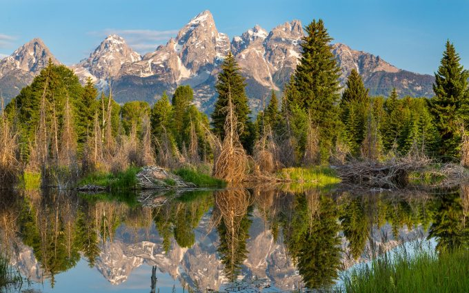 grand teton 4k wallpaper background