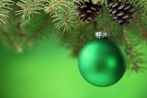 green christmas ornaments wallpaper background