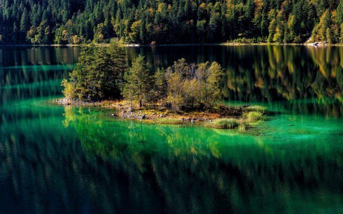 green water lake hd wallpaper background