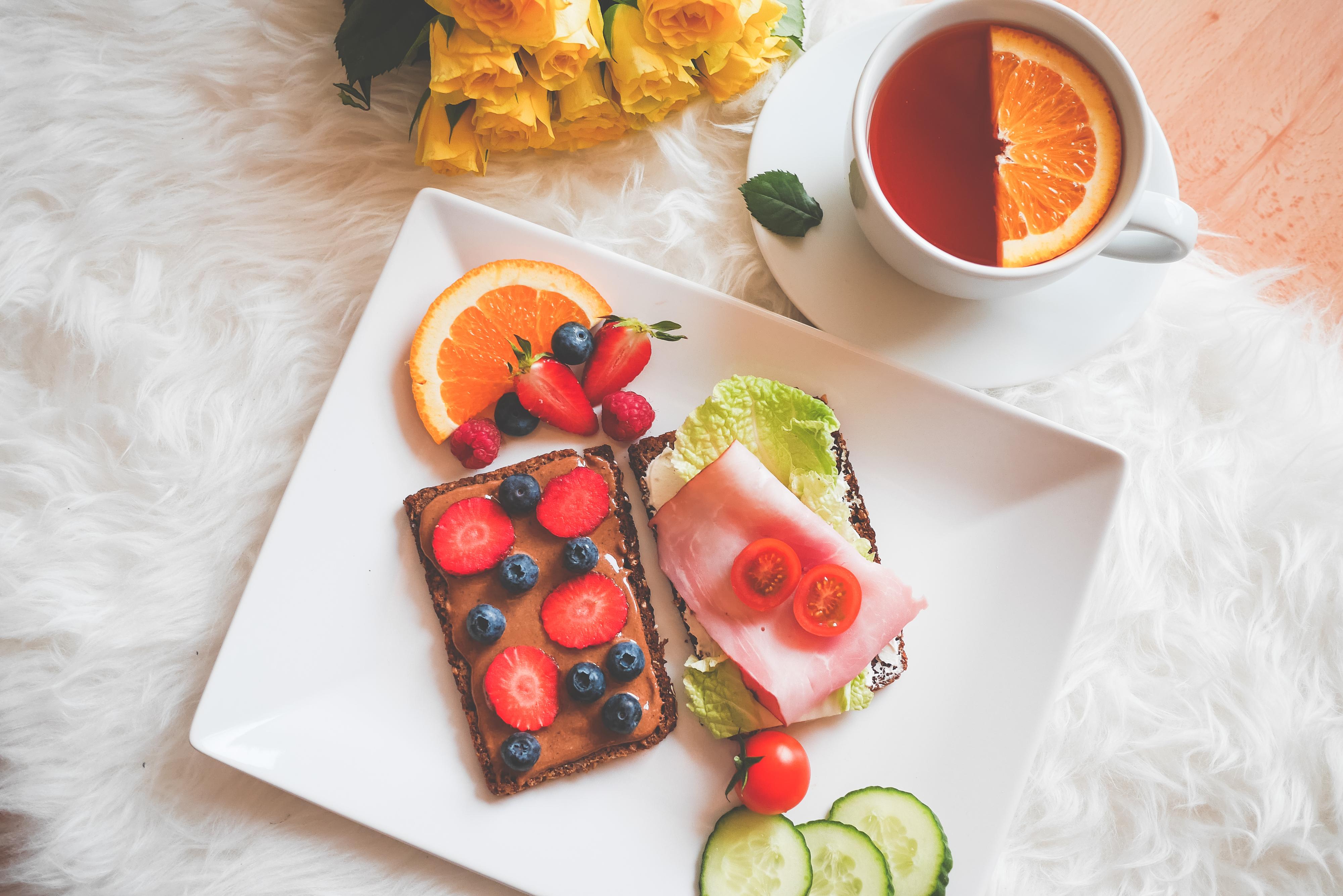 healthy breakfast wallpaper 4k background