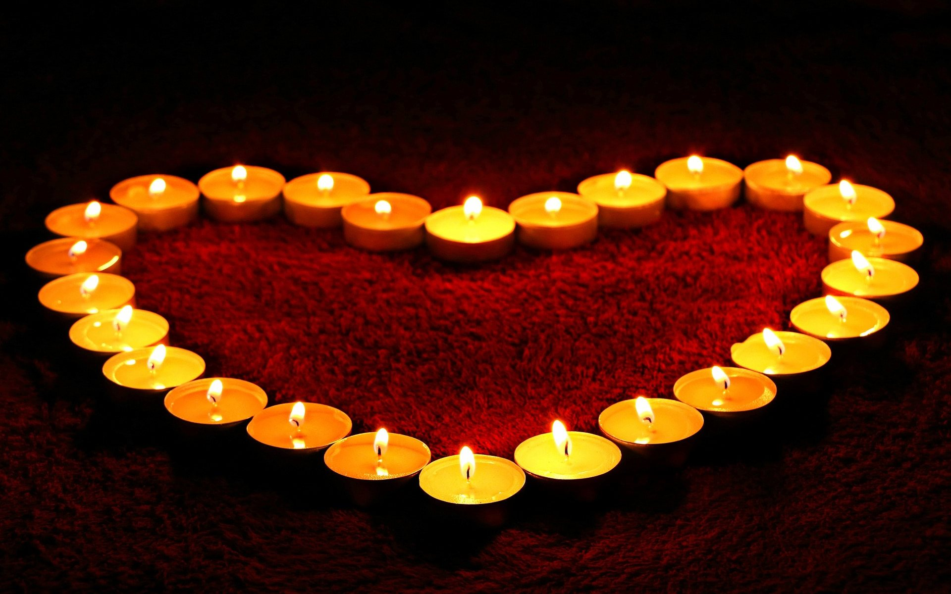 heart candles wallpaper background