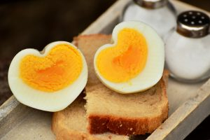 heart shaped boiled egg wallpaper background