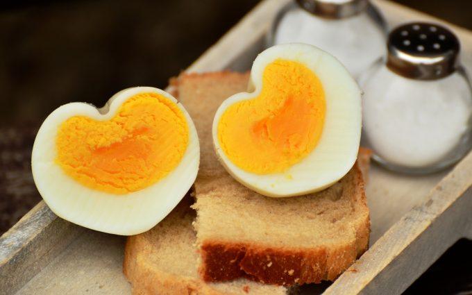 heart shaped boiled egg wallpaper background