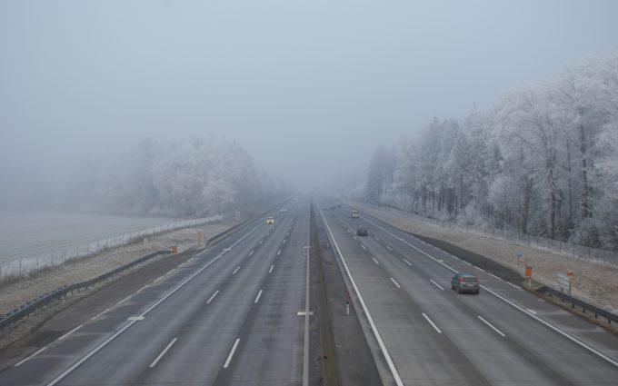 highway fog wallpaper 4k background