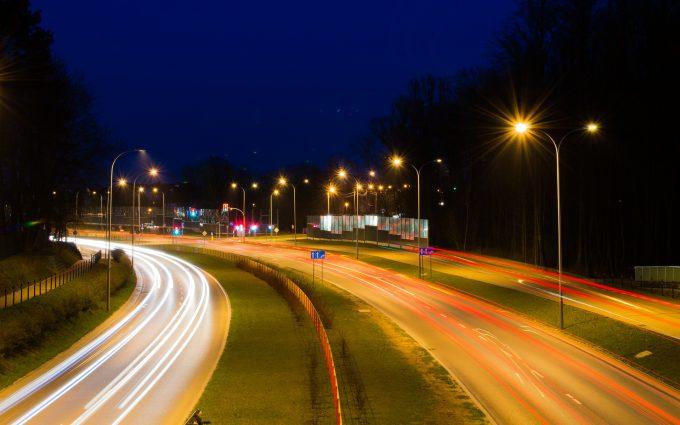 highway night view wallpaper