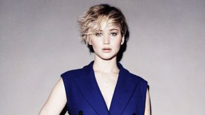 Jennifer Lawrence Blue Dress Wallpaper