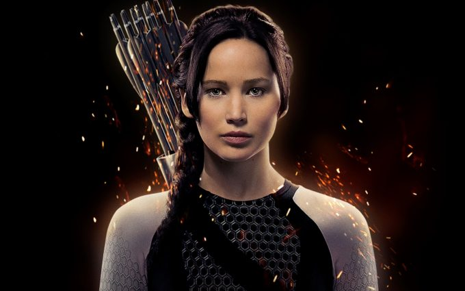 jennifer lawrence hunger games wallpaper background