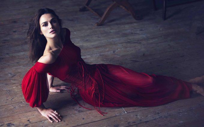 keira knightley in red dress wallpaper background
