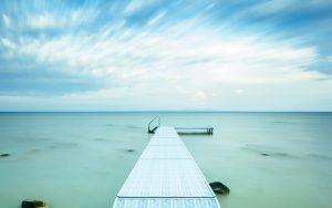 Lake Pier 4K Wallpaper