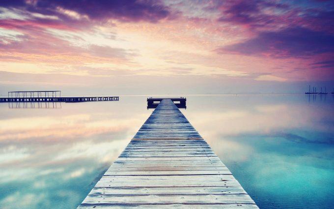 lake pier wallpaper background