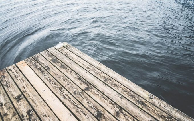 lake wooden pier wallpaper background