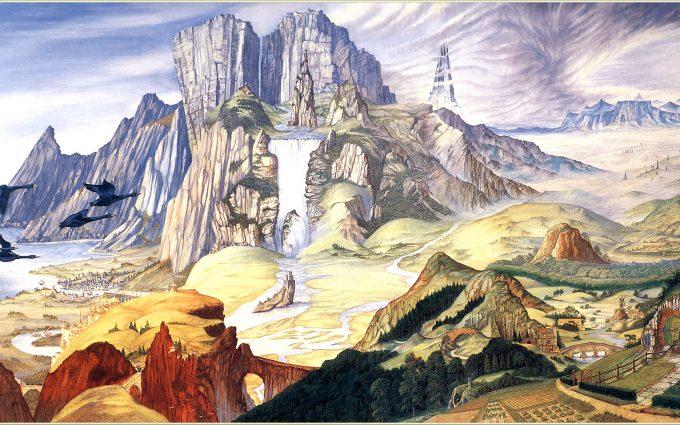 landscape painting wallpaper 4k background