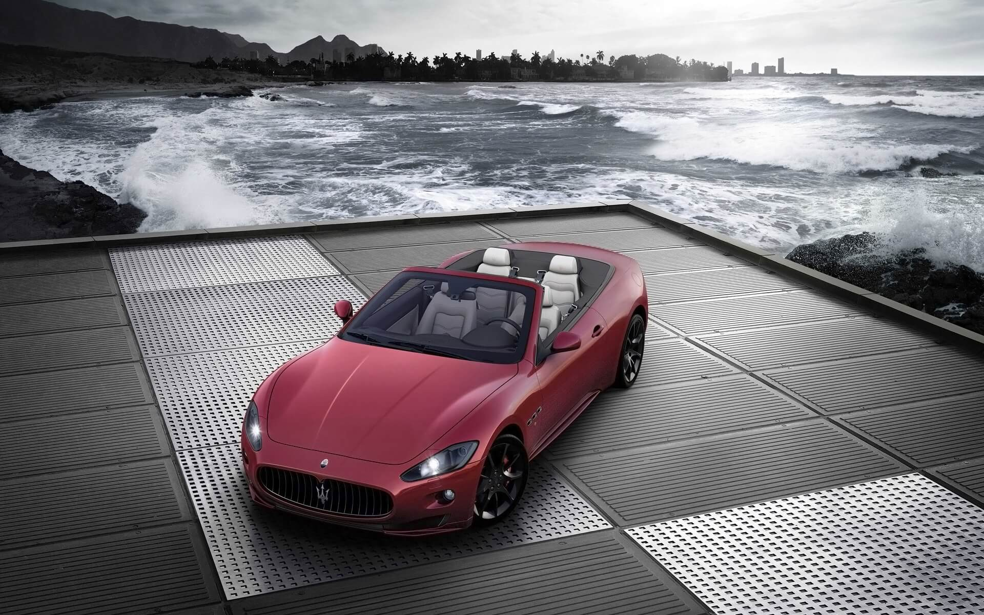 maserati grancabrio sport wallpaper background, wallpapers