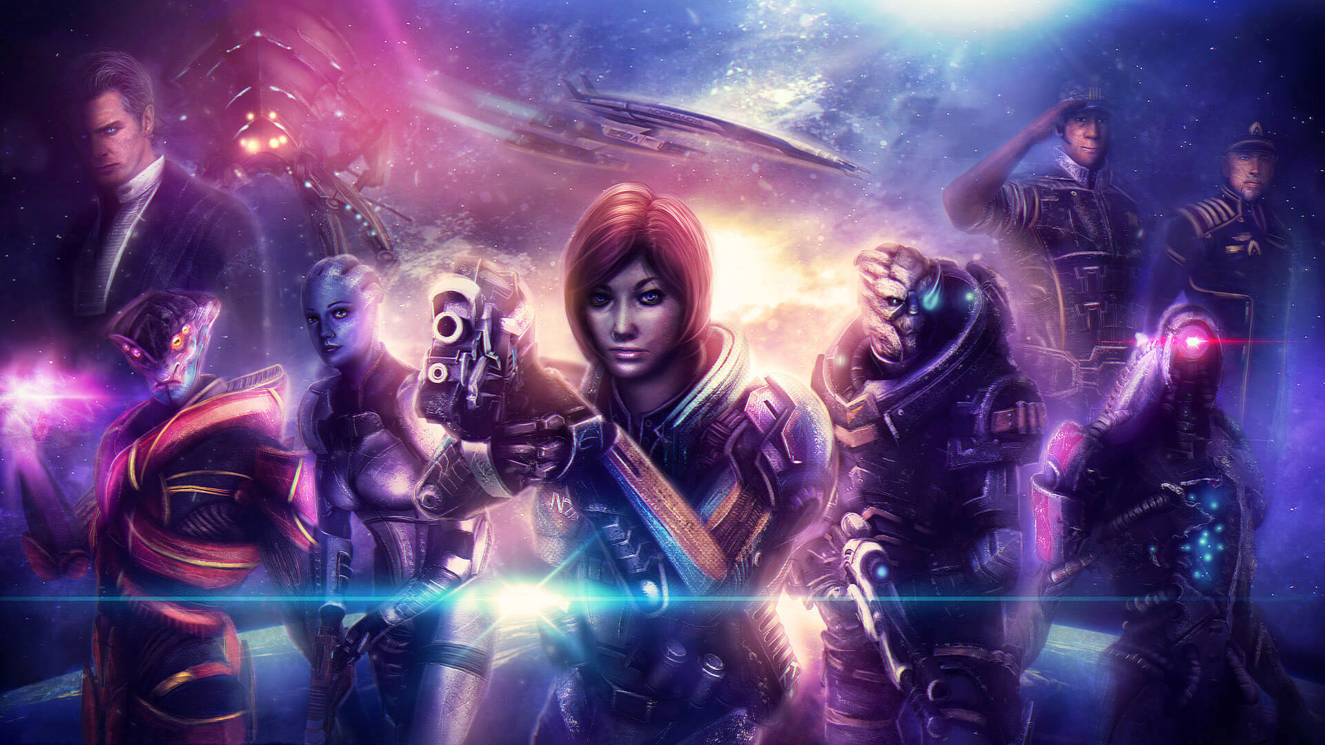 mass effect fan art wallpaper background
