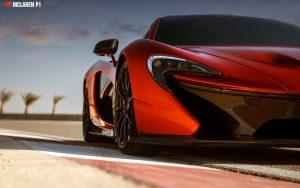 McLaren P1 Red Wallpaper