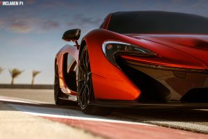 mclaren p1 red wallpaper