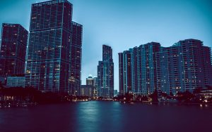 Miami Evening Wallpaper Background