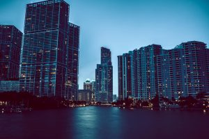 miami evening wallpaper background