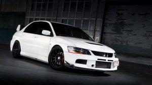 Mitsubishi Lancer White Wallpaper