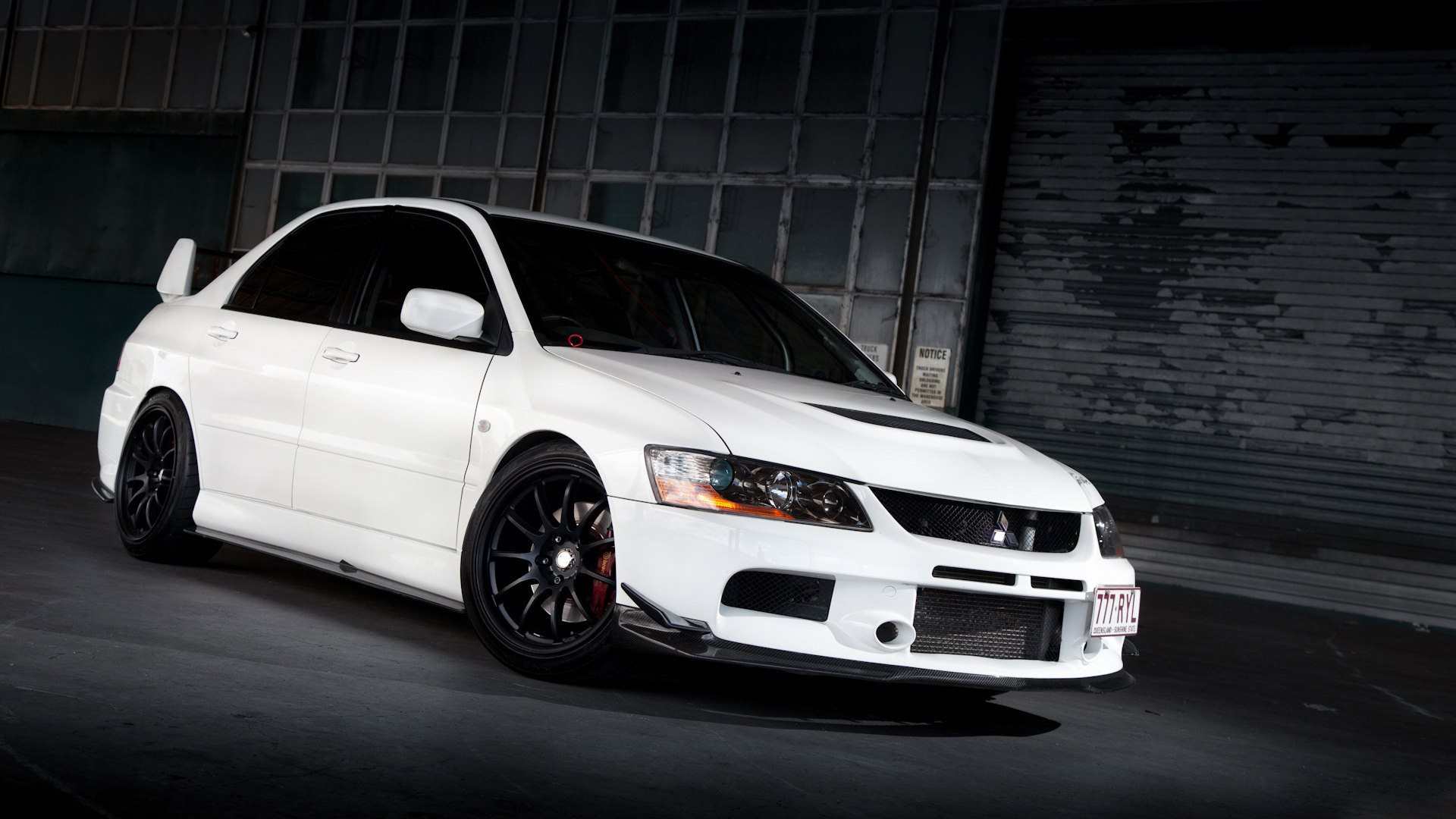 mitsubishi lancer white wallpaper background