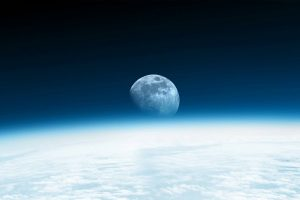 moon from space wallpaper background