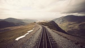 Mountain Rail Track Wallpaper Background