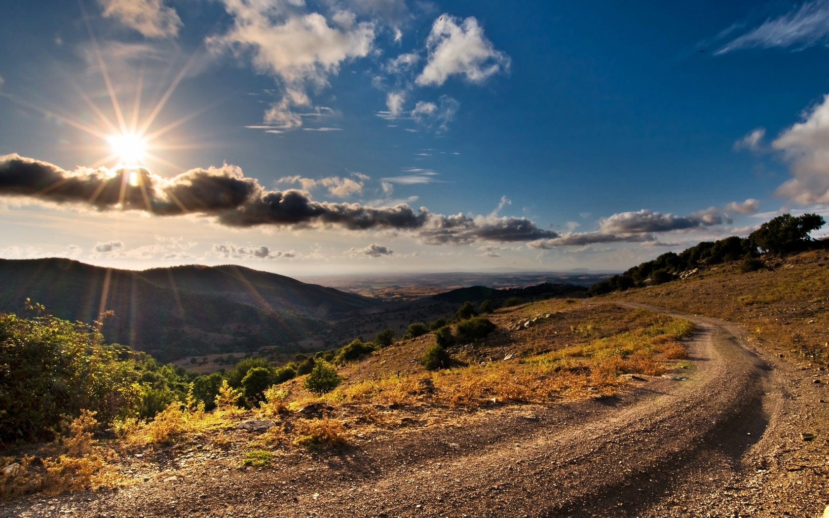 mountain road wallpaper background