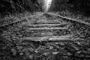old rail track wallpaper 4k background
