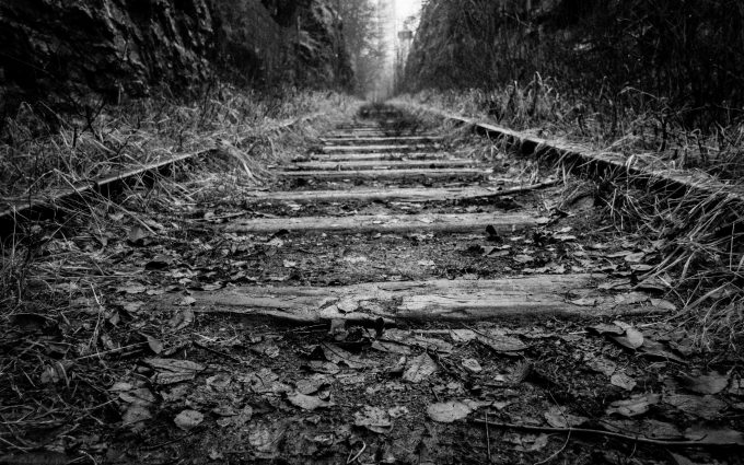 old rail track wallpaper 4k background