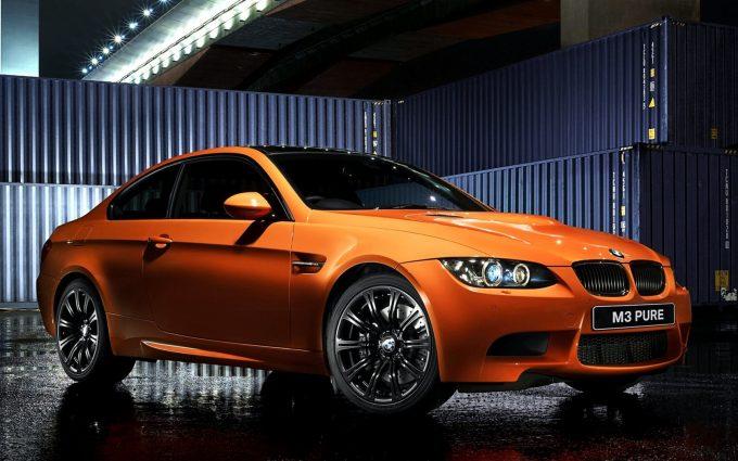 orange bmw m3 wallpaper background