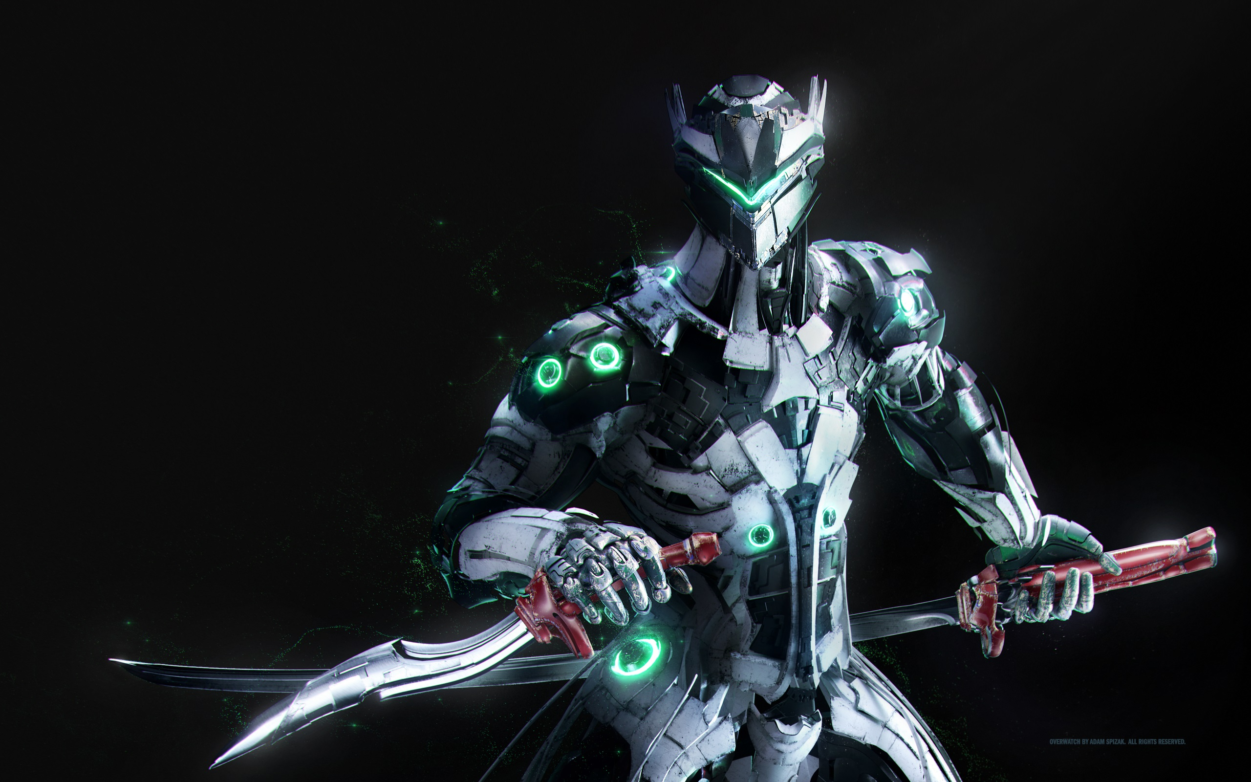 Overwatch Genji Wallpaper Hd Wallpaper Background