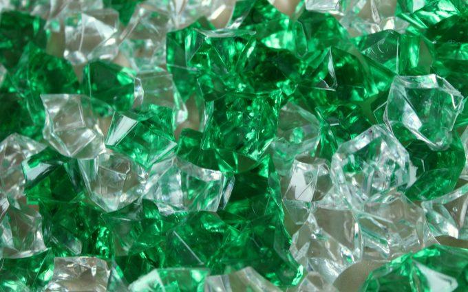 pebbles crystals green 4k