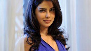 Priyanka Chopra in Blue Dress Wallpaper