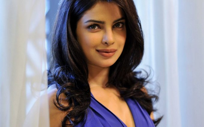 priyanka chopra in blue dress wallpaper background