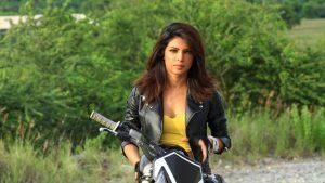 Priyanka Chopra on Bike Wallpaper