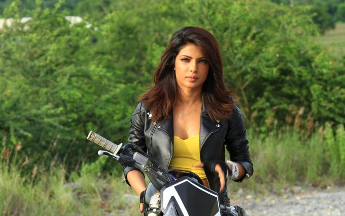 priyanka chopra on bike wallpaper background