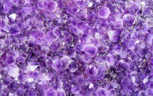 Purple Crystals Wallpaper