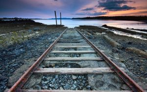 Rail Track to Sea Wallpaper