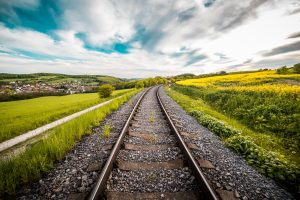 railway road 4k 5k wallpaper
