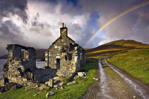 rainbow over the mountain wallpaper background, wallpapers